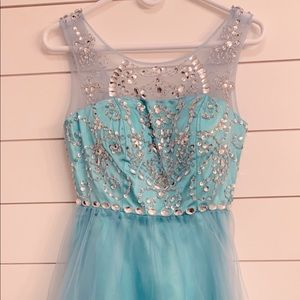 Dresses & Skirts - Ice Blue Semi Formal Dress